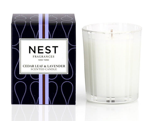 Cedar Leaf & Lavender Votive Candle design by Nest Fragrances