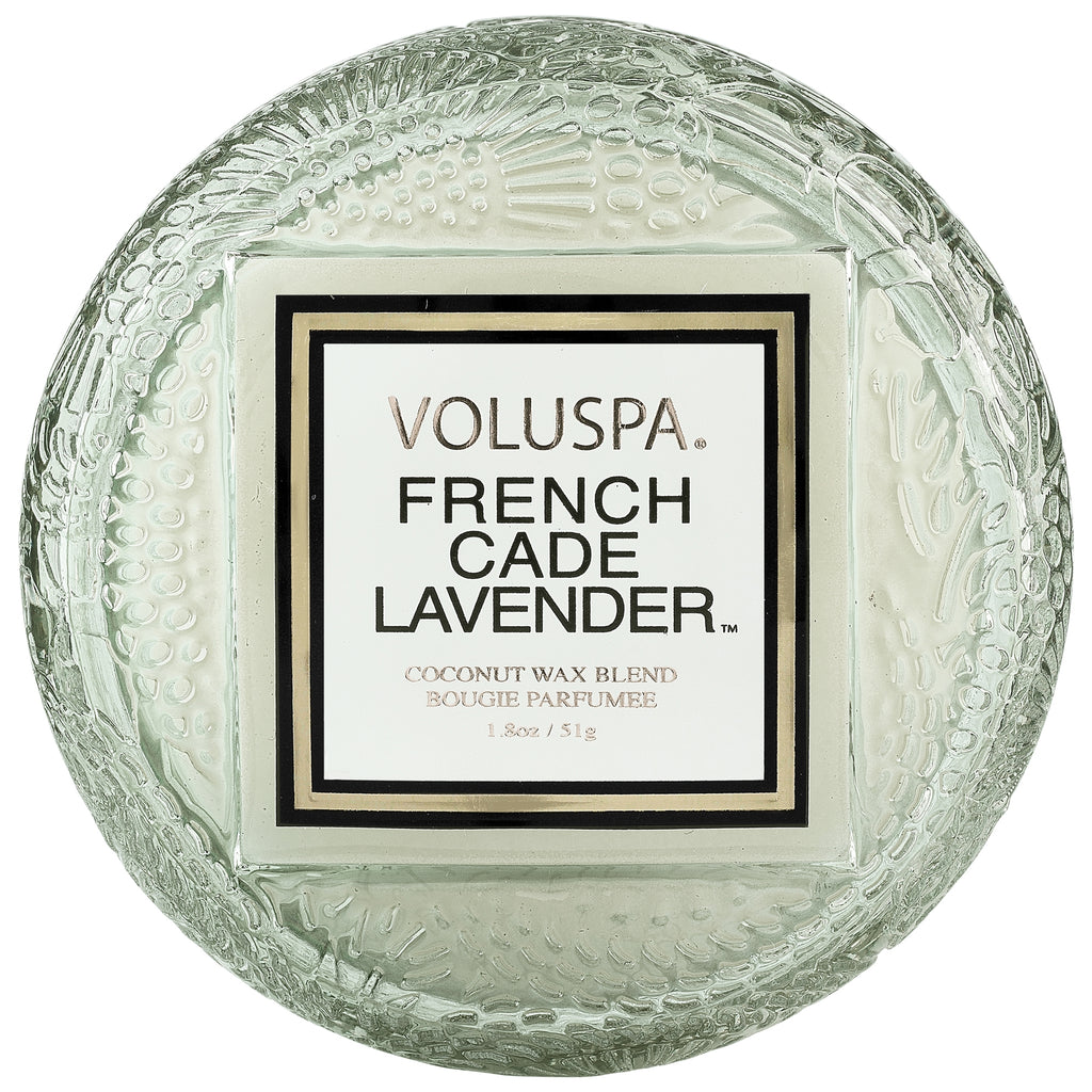 Macaron Candle in French Cade Lavender design by Voluspa