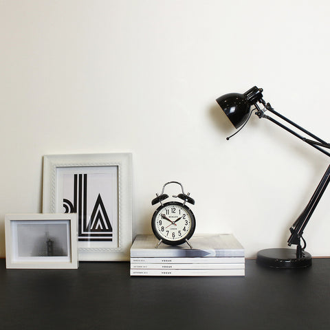 London Alarm Clock in Black design by Newgate