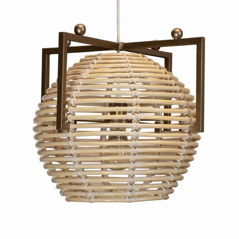 Chrysler Sphere Hanging Pendant White Washed