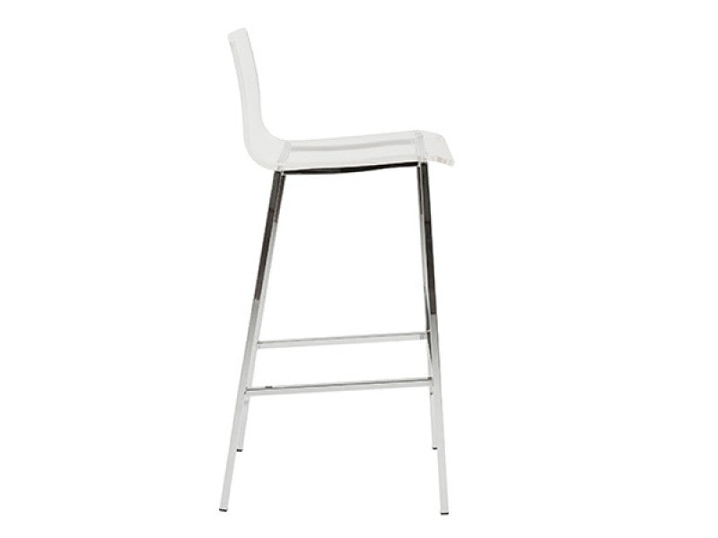 Set of Two Chloe-B Bar Stool in Clear design by Euro Style
