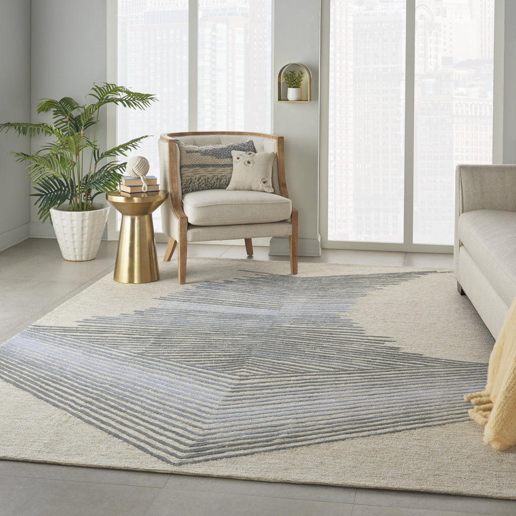 Symmetry Rug in Ivory/Grey by Nourison
