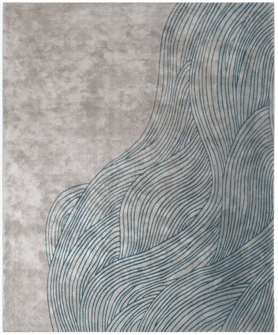 Continua Laguna Hand Tufted Rug in Blue design by Second Studio