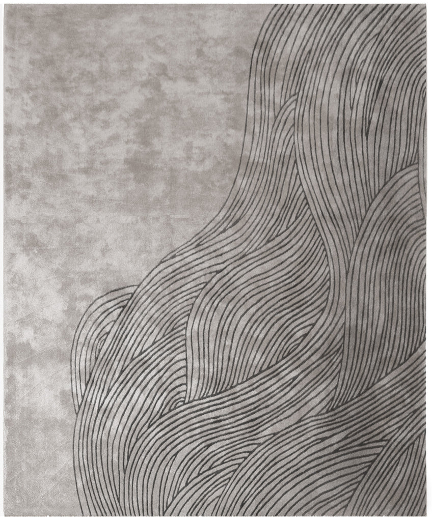 Continua Laguna Hand Tufted Rug in Black design by Second Studio