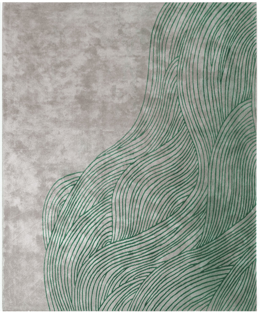 Continua Laguna Hand Tufted Rug in Green design by Second Studio