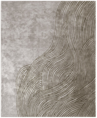 Continua Laguna Hand Tufted Rug in Grey design by Second Studio