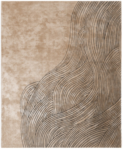 Continua Laguna Hand Tufted Rug in Beige & Black design by Second Studio