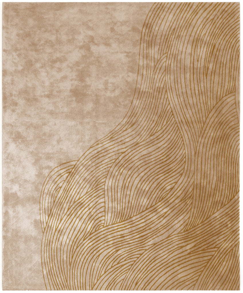 Continua Laguna Hand Tufted Rug in Beige design by Second Studio