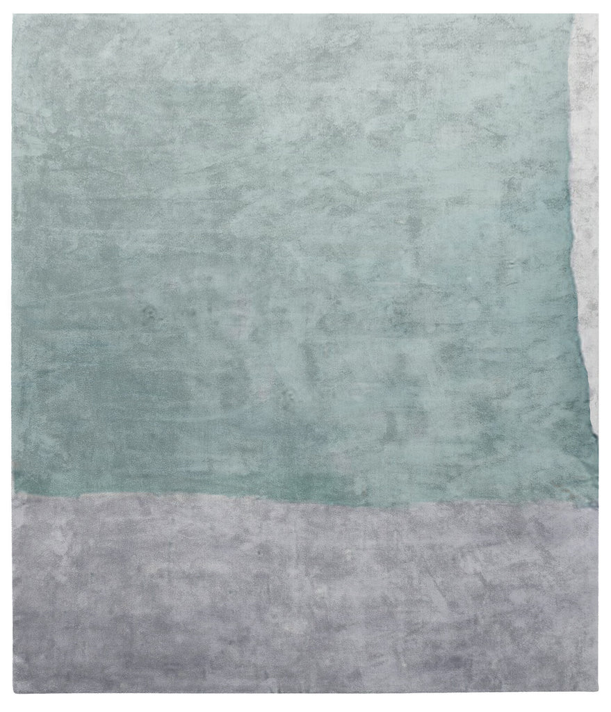 Cozzo Di Naro Hand Tufted Rug in Turquoise design by Second Studio