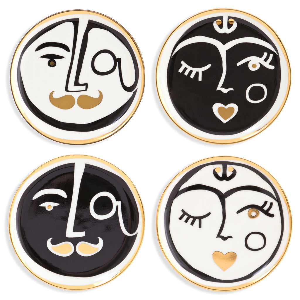 Set of 4 Marseilles Coasters design by Jonathan Adler