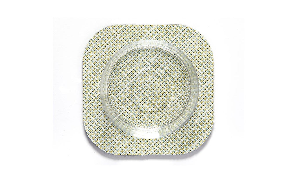 Square Mini Basketweave Coasters - Pack of 4