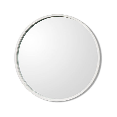 Como Mirror in White Linen