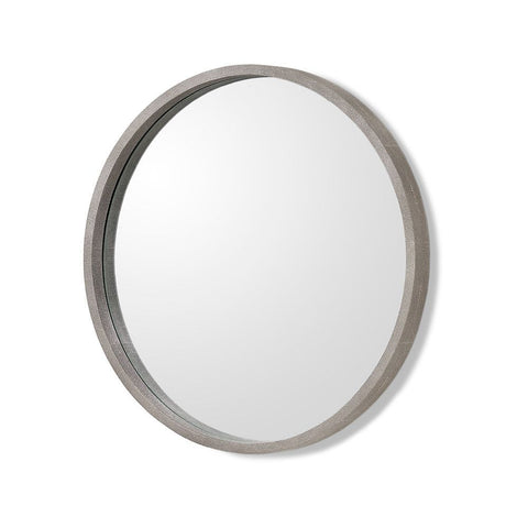 Como Mirror in Grey Shagreen