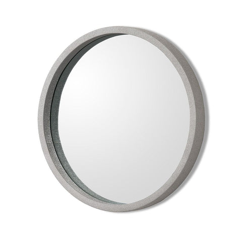 Como Grey Linen Mirror in Various Sizes