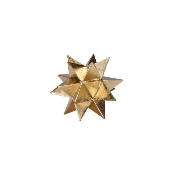 Cosmo Moroccan Style Gold Leaf Star in Various Sizes design by BD Studio