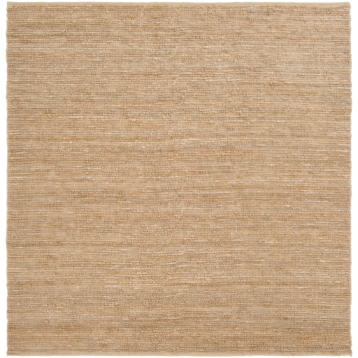 Continental Collection Jute Area Rug in Wheat design by Surya