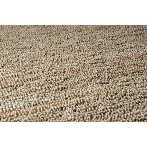 Continental Collection Jute Area Rug in Wheat