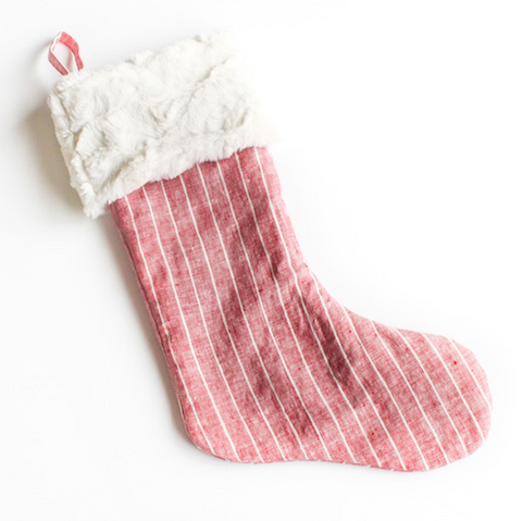Crimson Stripe Christmas Stocking