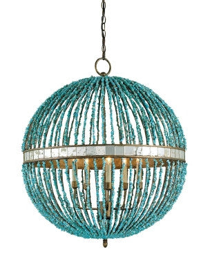 Alberto Orb Chandelier, 5L design by Currey & Company