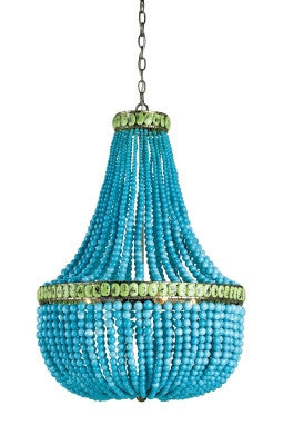 Hedy Chandelier, 4L design by Currey & Company