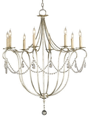 Large Crystal Lights Chandelier design by Currey & Company