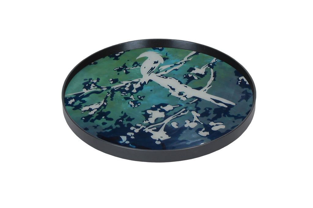 Birds of Paradise Glass Tray