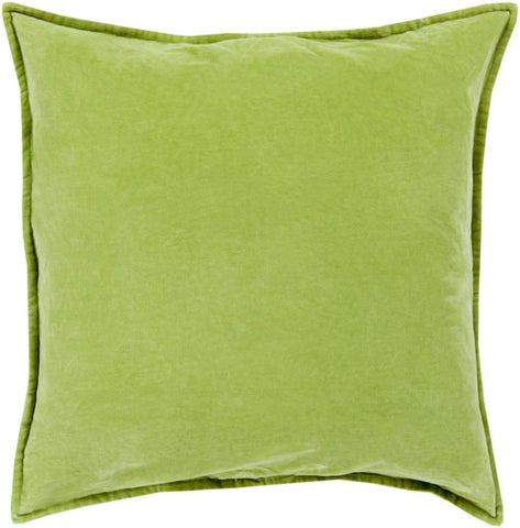 Cotton Velvet Pillow in Olive by Surya