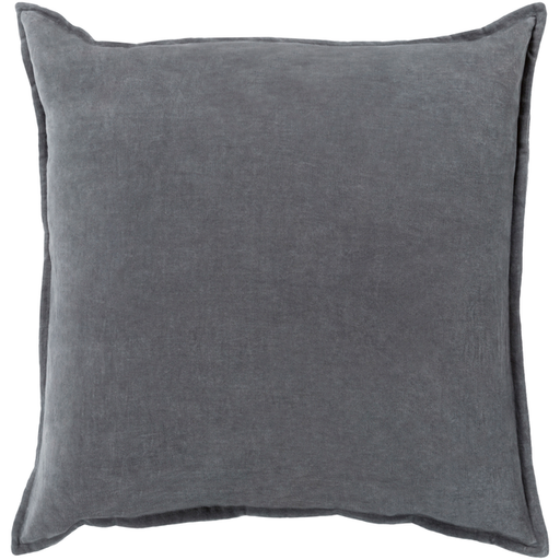 Cotton Velvet Pillow in Grey by Surya