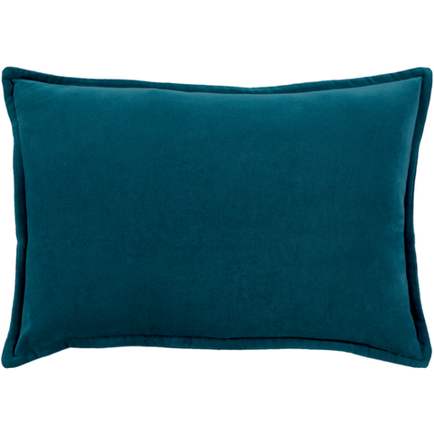 Cotton Velvet Pillow in Teal