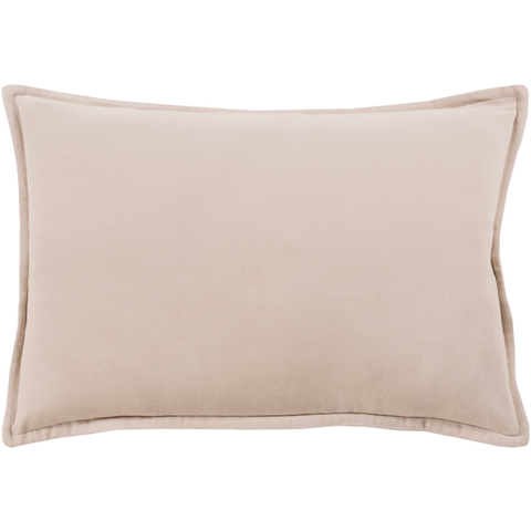 Cotton Velvet Pillow in Taupe by Surya
