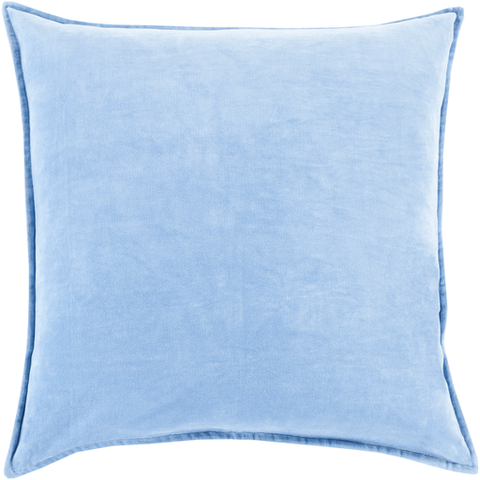 Cotton Velvet Pillow in Bright Blue by Surya
