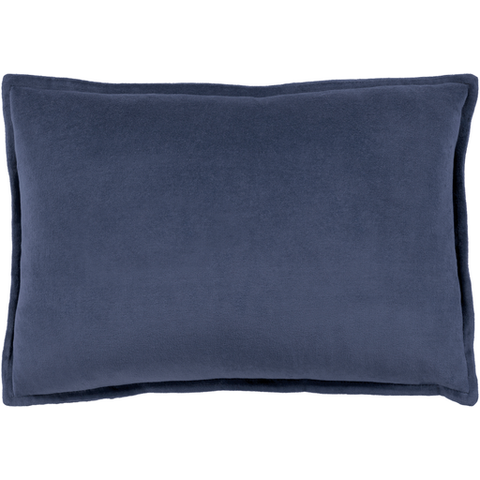 Cotton Velvet Pillow in Navy by Surya