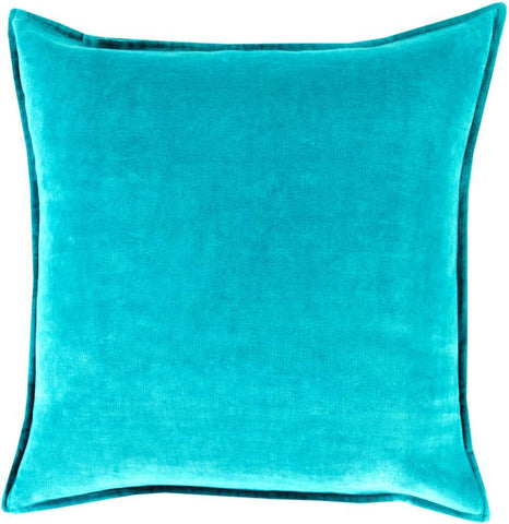 Cotton Velvet Pillow in Aqua by Surya