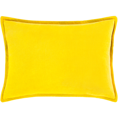 Cotton Velvet Pillow in Mustard by Surya