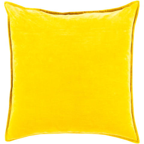 Cotton Velvet Pillow in Mustard