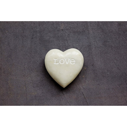 """Love"" Engraved Soapstone Heart Decoration"