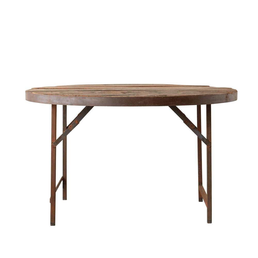 found wood metal folding tent dining table design by bd edition burke decor. Black Bedroom Furniture Sets. Home Design Ideas