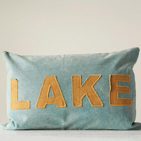"Applique ""Lake"" Pillow"