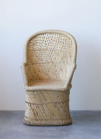 Hand-Woven Bamboo & Rope Chair design by BD Edition