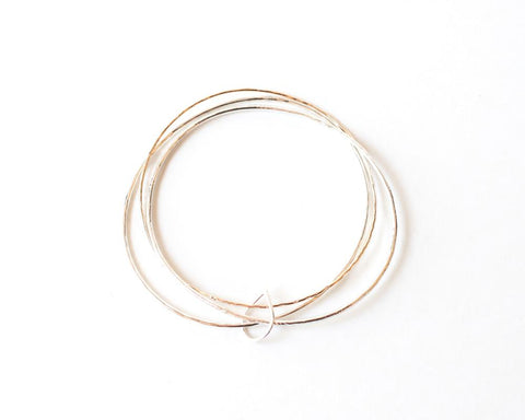 Ann Triple Bangle Bracelet design by Agapantha
