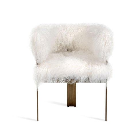 Darcy Chair in Ivory Sheepskin by Interlude Home