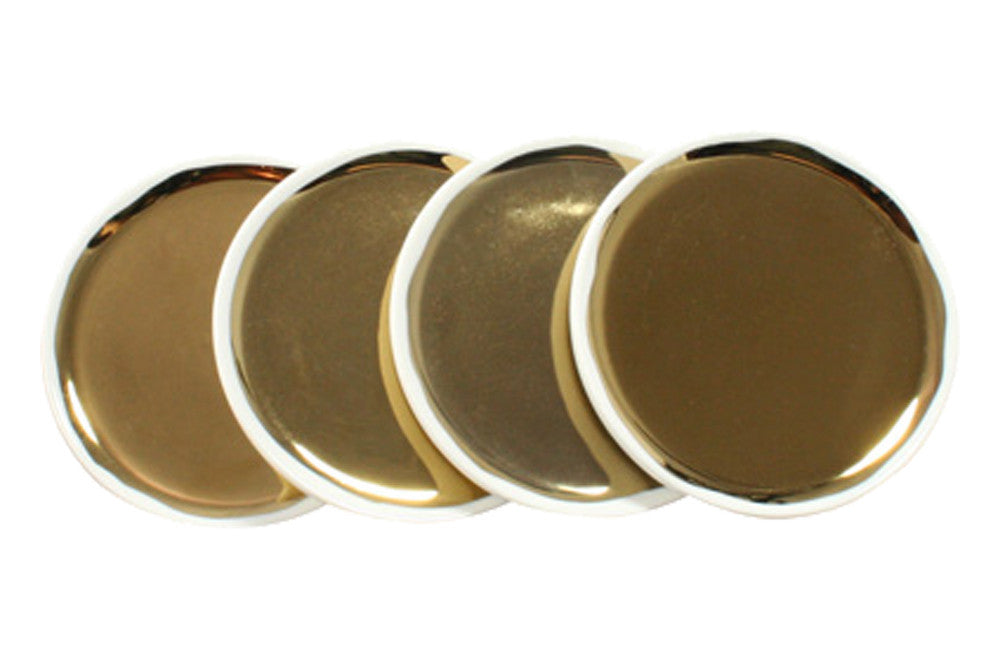 Set of 4 Dauville Coasters in Gold design by Canvas