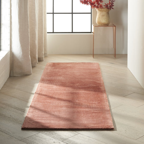 Lunar Rug in Rust by Calvin Klein