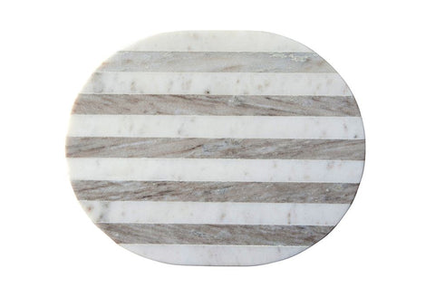 Marble Cheese / Cutting Board in Grey & White Stripe by BD Edition