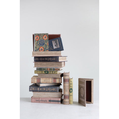 """Love's Philosophy"" Book Boxes, Set of 2"