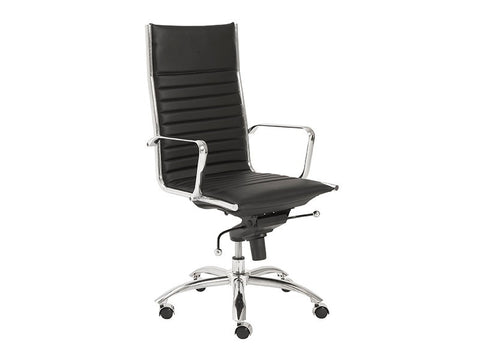 Dirk High Back Office Chair in Black design by Euro Style