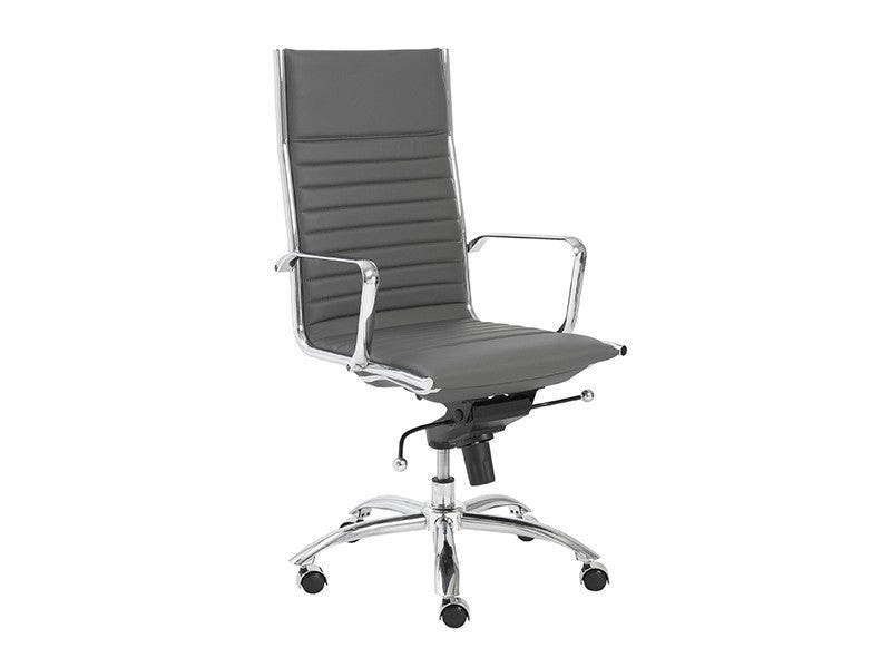 Dirk High Back Office Chair in Grey design by Euro Style