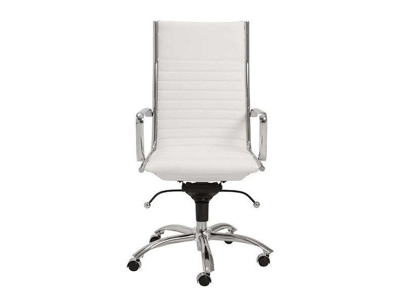 Dirk High Back Office Chair in White design by Euro Style