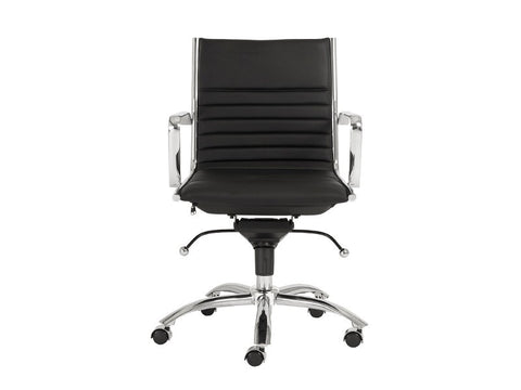 Dirk Low Back Office Chair in Black design by Euro Style