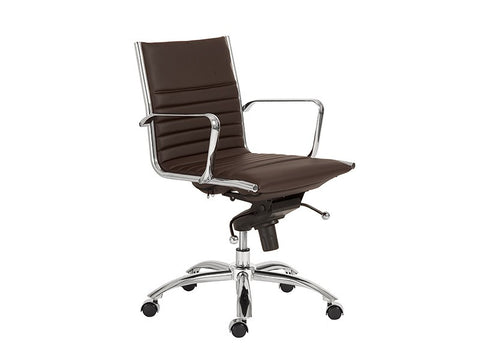 Dirk Low Back Office Chair in Brown design by Euro Style